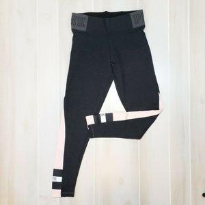 VS PINK Leggings Gray Med Green NEW Cotton Yoga